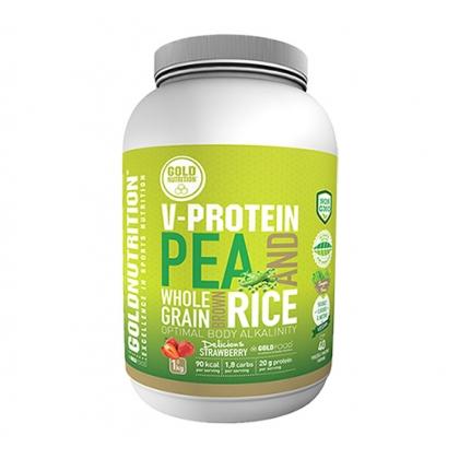 Gold Nutrition V-Protein - 1kg strawberry
