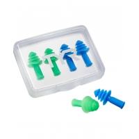 TYR Ergo Flex Ear Plugs 4PK (2Pairs) - Blue/Green